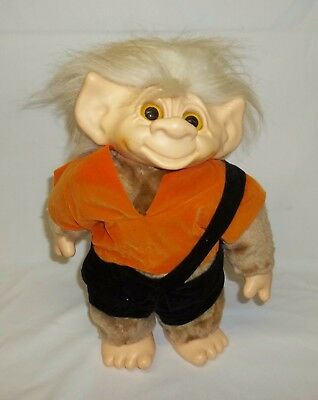RARE! Vintage Large Furry Troll Made in Korea for Nancy Sales Company Boston