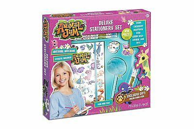 Animal Jam Deluxe Stationery Set Journal Notebook & Online Game Code!