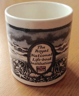 Rare Vintage RNLI Boncath Pottery Tea Mug Winter 1979 Dorn Williams Lifeboats