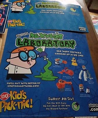 Dairy Queen Dexter's Lab Poster set
