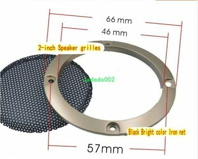 "1pcs 2"" inch 6# gold Speaker grilles Protective cover Decorative circle/net"