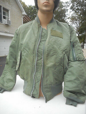 MA-1 Flight Jacket MFG Alpha Industry Dated 2000 Size Medium