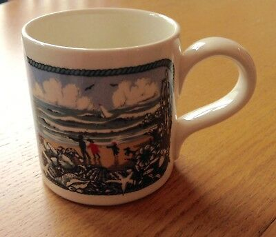 Rare Vtg RNLI Boncath Pottery Mug Spring 1979 Dorn Williams Windy Seaside Beach