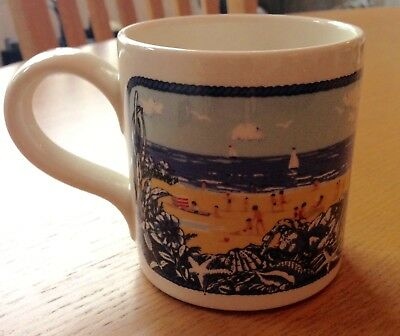 Rare Vtg RNLI Boncath Pottery Mug Summer 1979 Dorn Williams Lifeboats Seaside