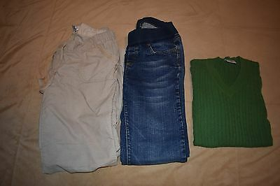 Lot Of 3 Maternity Jeans & Pants & Sweater size Small