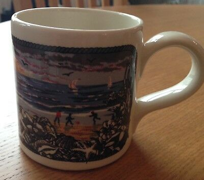 Rare Vtg RNLI Boncath Pottery Mug Autumn 1979 Dorn Williams Lifeboats Seaside