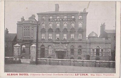 Pc Albion Hotel , Advertising Postcard  Lincoln Lincolnshire C 1910