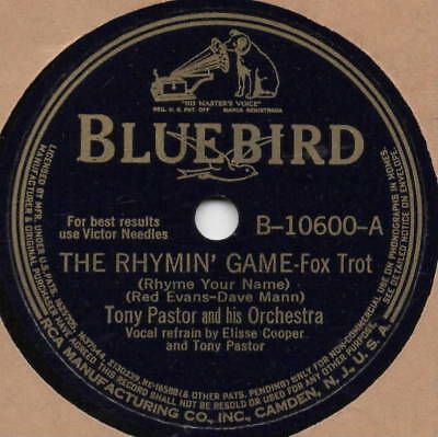 "78er Swing Tony Pastor Orchestra ""The Rhymin' Game"""