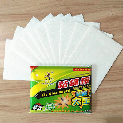 10pcs Fly Flies Sticky Glue Paper Trap Catcher Bugs Insects Catcher Board