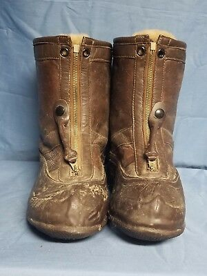 Original WWII US Navy Leather Flight Boots