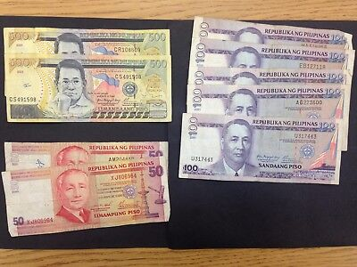 PHILIPPINES  (9 Notes)  1600 Piso  -- 2000, 2001