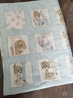 precious moments alphabet quilt blanket baby