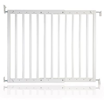 Safetots Chunky Wden Screw Fit Stair Gate White 63.5 - 105.5cm Child Gate-RETURN