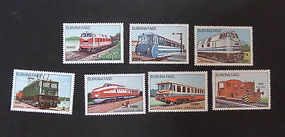 Burkina Faso 1985 Trains SG809/15 Railway locomotives MNH um unmounted mint