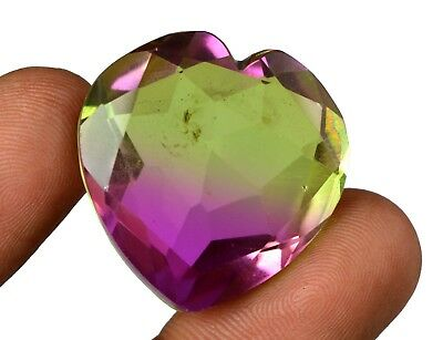 53.70 Ct IGL Certified Heart Shape Pinkish Green Alexandrite Gemstone-Xmas Gift