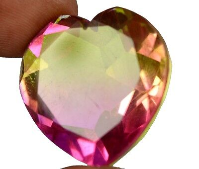 51.50 Ct IGL Certified Heart Shape Pinkish Green Alexandrite Gemstone-Xmas Gift
