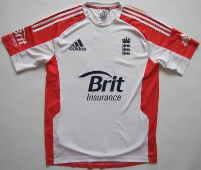 England 2010 cricket white Adidas Formotion player issue shirt jersey mens 40-42