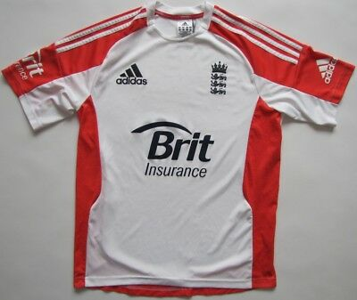 England 2011 cricket white Adidas Formotion player issue shirt jersey mens M