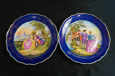 Pair of Early 19th Century Hand Painted Royal Vienna Courting Couple Plates