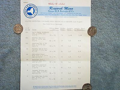 1970 Short-Term Corporate Bonds Selling At A Discount  Sheets