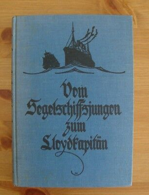 old 1928 GERMAN SHIP BOOK LLOYDS CAPTAIN AUTOBIOGRAPHY