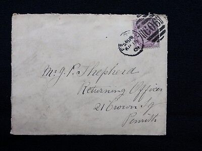 1901 Qv Cover Penrith 606 Duplex To Shepherd Penrith Bampton Grange Thimble