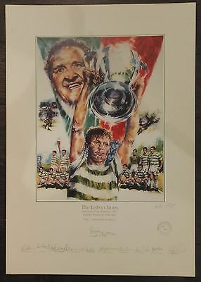 1967 Celtic - European Cup Final 11 Signed In Pencil  Rare Official Print Of 500