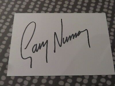 Gary Numan Signed card - V Clear original - 5 x 3 inches - Pop