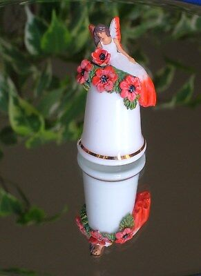 Thimble- Sterling Classic - Pewter Flower Fairy - Fine Bone China