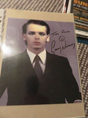 Gary Numan Signed Glossy Photo - 9 x 8 inches - Lovely photo in person