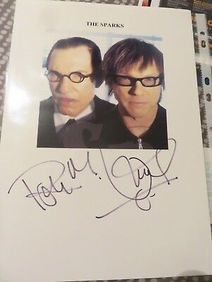 The Sparks - Signed A4 Photo - In person autographed - Perfection L@@K 2 x Rs