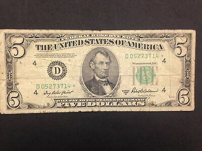 USA  5 Dollars  1950  STAR Replacement note  --  FRN