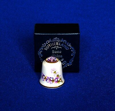 Thimble - Sutherland Enamelled and Crystal Topped - Boxed