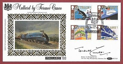 Signed First Day Cover - Terence Cuneo - 1988 Transport  & Communications - York