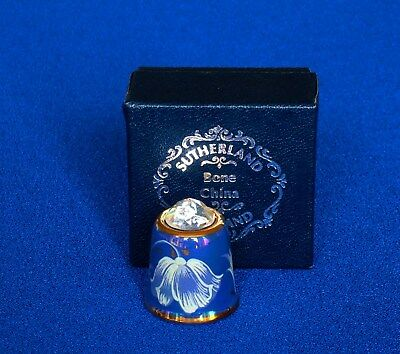 Thimble - Sutherland - Blue Haze- Crystal Topped - Boxed