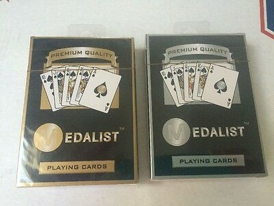 Lot Of 2 New Decks Of Medalist Gold Silver  Playing Cards!