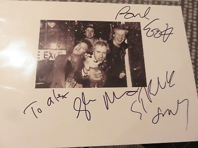 Sex Pistols Signed by 3 - A4 glossy photo - Original in person L@@K