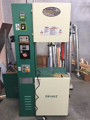 Used Grizzly G8146Z Vertical Metal Bandsaw with Inverter