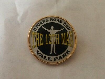 Port Vale Bycars End The 12th Man badges