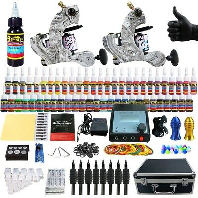 Solong Tattoo kit machine tatouage encre a tatouer Aiguilles TK259 Art Corporel