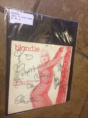 Blondie Denis 7 Inch Vinyl Single Autographed X 6 C.O.A.