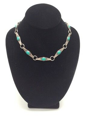 """Signed Sterling Silver & Turquoise 33"""" Belt/Chain/Necklace, 81.5g"""