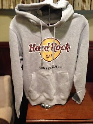 HARD ROCK CAFE MENS SAN FRANCISCO CLASSIC GREY PULLOVER HOODIE size S NEW W/TAG