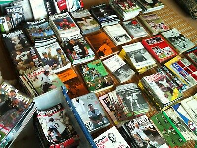 Massive Fulham Football Programme Collection + Books DVD's CD's & Mags 60's-Now