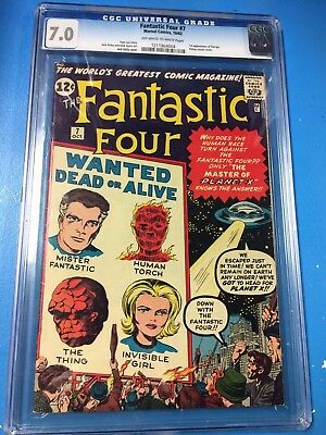 Fantastic Four #7 1962 CGC 7.0 OW/W Kirby and Lee Classic