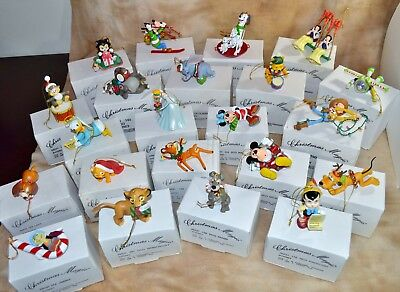 Lot Of 23 Grolier Disney Christmas Magic Ornaments In Original Boxes