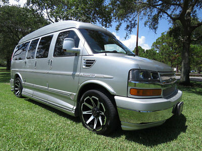 2010 Chevrolet Express  One Owner 2010 Luxury Hi Top Explorer Conversion Van Private Jet Leather Cabin