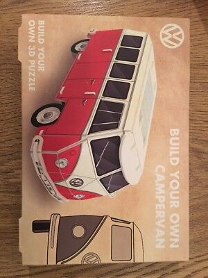 Build Your Own Vw Campervan, Puzzle, Model, Brand New