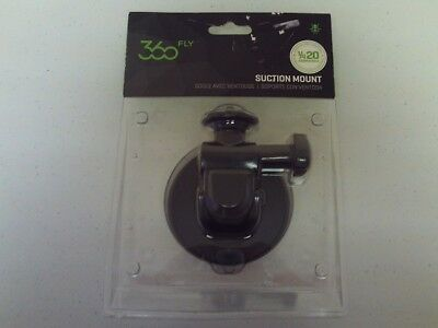 Genuine 360Fly Camera Suction Cup Mount Kit Standard 1/4 20 Male 4K Compatible