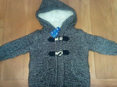 Lined cardy with faux fur inside size 1-1 1/2 yes bnwt